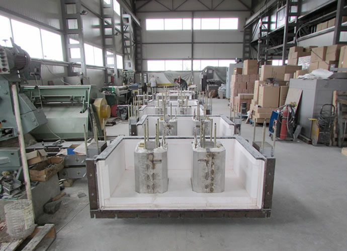 Production Of Inductors 330 KW For Furnace Melting